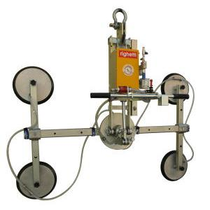Vacuum glass lifter with pneumatic tilt 0-90° and manual continue rotation 360°